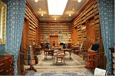 Betliar Manor House is a beautiful century castle in the east of Slovakia. Inside you'll find this huge library. Rolling Ladder, Library Room, Personal Library, Home Libraries, My House, The Good Place, Building A House, Old Things, Architecture