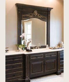 Custom Mirrors and Cabinetry bathroom decorating ideas