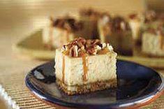 Barras de cheesecake con caramelo y pacanas Receta - Comida Kraft