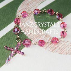 Swarovski Beaded Rosary Bracelet