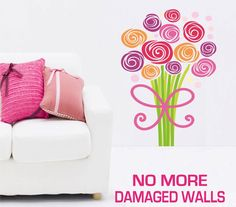 Flowers Bouquet Wall Stickers - Totally Movable, $8.95 (http://www.wholesaleprinters.com.au/flowers-bouquet-wall-sticker-totally-movable)
