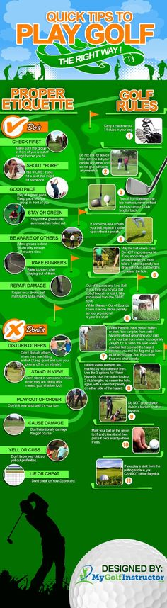 Have a Buddy that is Unbearable to Play Golf With? Tired of Annoying Playing Par… Have a Buddy that is Unbearable to Play Golf With? Tired of Annoying Playing Partners and Rule Breakers? Share these Quick Tips to Play Golf the Right Way with them now. Thema Golf, Golf Cart Bodies, Golf Etiquette, Golf Chipping Tips, Golf Videos, Golf Putting, Putting Tips, Golf Tips For Beginners, Perfect Golf
