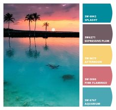 Shower Curtain in Tropical Bay Inspired Stripes Standard and Long Lengths 84 or 96 inche - Art - Color Palette Inspiration - Color Palette For Home, Color Schemes Colour Palettes, Paint Color Schemes, Colour Pallette, Color Palate, Beach Color Schemes, Beach Color Palettes, Color Combinations, Ocean Color Palette