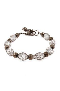Crystal Mesh Bracelet in Chocolate on Emma Stine Limited