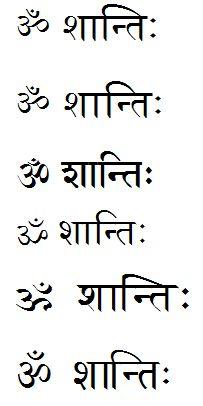 """om shanti"" in Sanskrit - The international discussion forum"