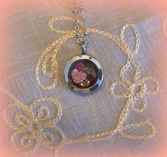 Mini Silver South Hill Designs Locket, Pink Crystal Heart charm, January, June & Octobers Birthstones , visit http://southhilldesigns.com/andreabrindley