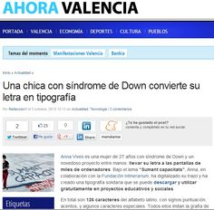 AHORA VALENCIA.  3-10-12   http://www.ahoravalencia.es/sindrome-down-letra-tipografia/