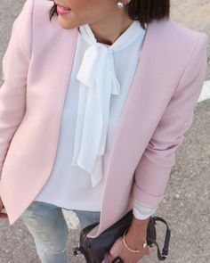 #Ripped #Jeans + #Blazer #Pink by Be Trench