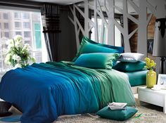 Searching for affordable Turquoise Blue Bedding in Home & Garden? Buy high quality and affordable Turquoise Blue Bedding via sales. Enjoy exclusive discounts and free global delivery on Turquoise Blue Bedding at AliExpress Romantic Bedding Sets, Blue Bedding Sets, King Size Bedding Sets, Blue Comforter, Cotton Bedding Sets, Duvet Bedding, Comforter Sets, Teal Bedspread, Green Bedding