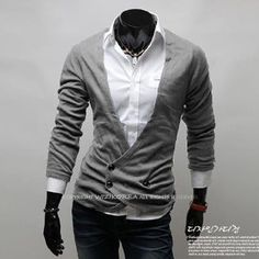 New Design Men's Double Breasted Cardigan