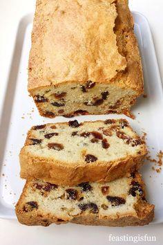 Cake Recipes Uk, Recipes Using Cake Mix, Sweet Recipes, Apple Recipes, Delicious Recipes, Bread Recipes, Baking Recipes, Fruit Cake Loaf, Coconut Loaf Cake