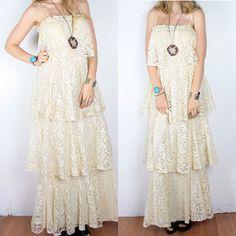 wedding dress 70's