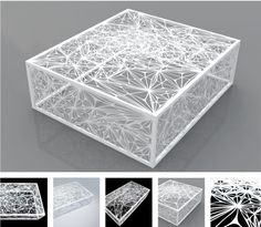 This feels like you want to stand on it to watch it fall through. Laser cut steel in for such a delicate illusion.