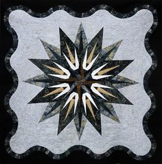 Vintage Compass, Quiltworx.com, Made by Cs Bolts to Binding.