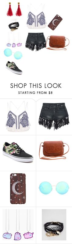 """""""My Bestie style"""" by gotthatsommertime ❤ liked on Polyvore featuring River Island, Sans Souci, Vans, Victoria Beckham, Pusheen and ASOS"""