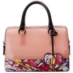 Furla Candy Cookie Mini Satchel ($448) ❤ liked on Polyvore featuring bags, handbags, mini purse, satchel purse, leather satchel, mini satchel and red handbags