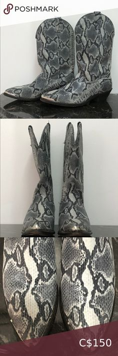 American West Snake Print Western / Cowboy Boots Slightly used American West snake print boots in excellent condition.  Not leather.   Size 8  Great boots, I just need to make room for new ones. American West Shoes Heeled Boots Western Cowboy, Cowboy Boots, Shoes Heels Boots, Heeled Boots, Snake Print Boots, Black Leather Mules, Black Pumps, American, Room