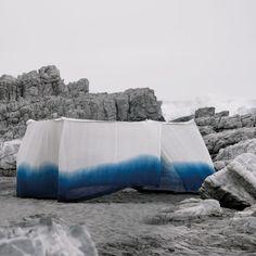 Aboubakar Fofana, Ombre Nomad The Niger River Tent, 2009 Fabric Rug, How To Dye Fabric, Dark Shades, Light Shades, Shibori, Moroccan Blue, Fibre And Fabric, Indigo Colour, Blue Pottery