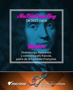 #UnDíaComoHoy 15 de enero pero de 1622 nace Jean-Baptiste Poquelin, «Molière», dramaturgo, humorista y comediógrafo francés, padre de la Comédie-Française.