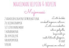 MAAILMAN HELPOIN & NOPEIN MAJONEESI - Karkkipurkki - Blogi lastenvaatteista ja perhe-elämästä