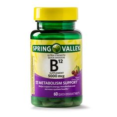 Mood 038 Stress Support Supplements 2 Pack Spring Valley Vitamin Tablets 250 mg 100 Ct 7 68 Vitamin B12 Tablets, Metabolism Support, Turkey Burger Recipes, Spring Valley, Prenatal Vitamins, Natural Flavors, The Cure, Health, Cherry
