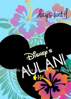 Countdown to Disney's Aulani Print Calendar disney aulani, aulani hawaii #hawaii #familytravel #disney