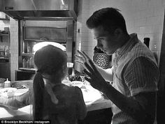 Cookery class: Brooklyn Beckham shared a picture of a sweet bonding moment that he spent with sister Harper this week, as they made in pizza together in LA