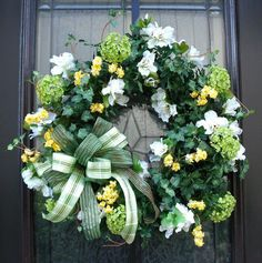 Beautiful Wreath!! St.Patty's Day&Spring