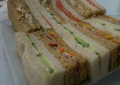 Sandwiches anyone to kick off a cream tea