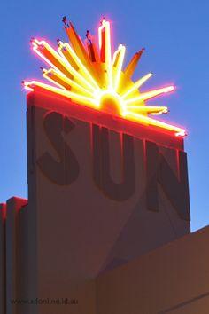 Neon Sign, Sun Theatre in Yarraville, Melbourne.