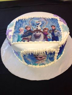 From Clay's Creative Bakery. We do not have a need for a Frozen birthday cake since M and S's birthdays are in May but this cake is pretty great!