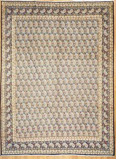 "Hand Knotted Kerman Persian Rug 9' 9"" x 13' 3"" at OLDCARPET"