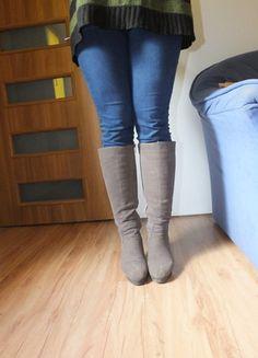 Kup mój przedmiot na #vintedpl http://www.vinted.pl/damskie-obuwie/kozaki/10428531-szare-kozaki-zamsz-do-kolana