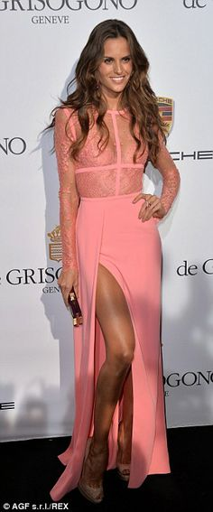 Gorgeous: Models Izabel Goulart and Tamara Ecclestone stunned in their stylish pink and black dresses