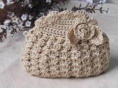 çiçek motifli örgü çanta