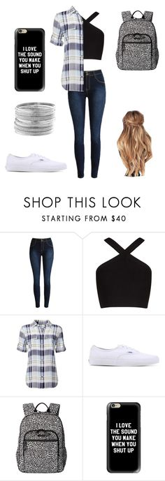 """school outfit"" by a-hidden-secret ❤ liked on Polyvore featuring BCBGMAXAZRIA, Equipment, Vans, Vera Bradley, Casetify and Avenue"