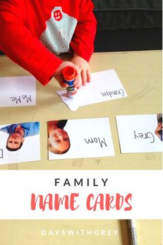 Family Name Cards — Days With Grey