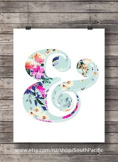 Printable art | Watercolor #floral #ampersand #vintage #blue #turquoise #pink #orange #aqua #flowers #typography #floral #ampersand #vintage #blue #turquoise #pink #orange #aqua #flowers #typography #printable #art #printableart #etsy #newzealandartist #newzealand #handmade #digitalart #wallart #homedecor # smallbusiness #interiordecor #abmlifeiscolorful # illustration # shopsmall #creativelife #dscolor #artprint #craftsposure