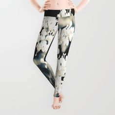 Our proprietary six-panel cut and sew construction provides an unprecedented quality in fit and versatility with an adjustable waist line for wearing high, low or somewhere in between. Using the highest quality anti-microbial polyester spandex material, these premium leggings wick moisture and remain breathable, making them perfect for running or runways. https://society6.com/product/white-sprouts-yhy_leggings?curator=jessilee24