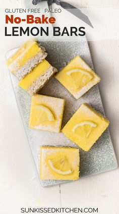 You'll LOVE this easy low carb Lemon Bars recipe. They are super simple to make and gluten free! Gluten Free Recipes Videos, Healthy Gluten Free Recipes, Recipe Videos, Gluten Free Cakes, No Bake Summer Desserts, Lemon Desserts, Fun Desserts, Keto Chocolate Recipe, Lemon Curd Recipe
