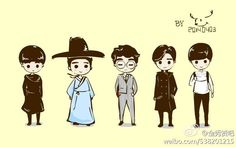 My From The Stars drama Fanart Cute Cartoon Drawings, Kpop Drawings, Lee Min Ho Kdrama, My Love From Another Star, Hallyu Star, Asian Love, Anime Version, Doodle Sketch, Art Series