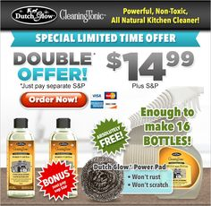 Dutch Glow® Cleaning Tonic | Powerful, nontoxic, all natural kitchen cleaner!