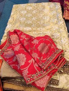 Brocade Blouse Designs, Simple Blouse Designs, Saree Blouse Patterns, Designer Blouse Patterns, Bridal Blouse Designs, Half Saree Designs, Hand Designs, Sarees, Blouses