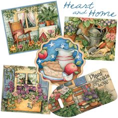 Heart and Home artwork by Susan Winget - Love this calendar each year!