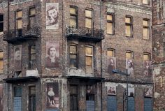 The ghosts of Muranow: A journalist's mission to illuminate Poland's haunted past - World News. Photos of Jews who died during World War II adorn one of the few remaining buildings on Prozna Street in this picture taken during October of 2011 in Poland's Muranow district.
