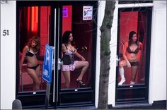 Amsterdam Red Light District ---- some of these are directly across from a church