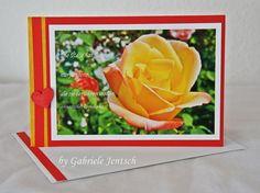 "Karte Glückwunschkarte Grußkarte ""Rose"" von PHOTOGLÜCK auf DaWanda.com"