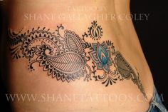 mehndi colorful like tatoo - Koru Tattoo, Tattoo On, Piercing Tattoo, Mandala Hip Tattoo, Hip Piercings, Wrap Tattoo, Mehndi Tattoo, Pretty Tattoos, Love Tattoos