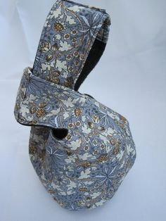 Japanese Knot Bag with William Morris cotton by MissyJHandmade,