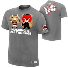 "Daniel Bryan & Kane ""Hugging Is All The Rage"" Youth Authentic T-Shirt- medium"